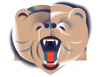 The Bruin texture illustrated animal bruin bear animal geometric illustration