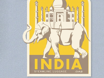 Steamline Luggage Stickers (1) stickers branding luggage india elephant travel taj-mahal