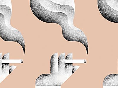 Sneak Peak illustration sneak-peak grain texture smoking cigarette smoke