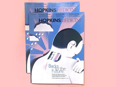 Hopkins Medicine Cover texture editorial-illustration geometric illustration