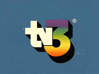 Fictitious TV logo graphic design logo design typography vintage retro branding television logo
