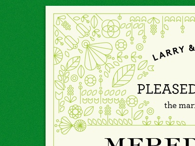 I do typography wedding wedding-announcement floral flowers plants flora marriage announcement print
