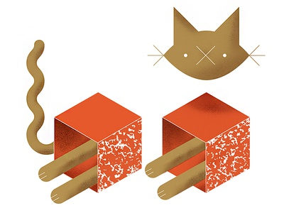 mEoW (catstructivism) cat geometric isometric meow purr whiskers texture