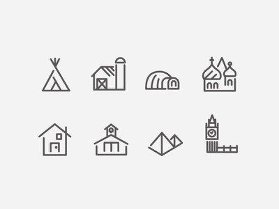 Oh the Places You'll Go travel icon icons teepee igloo big-ben home school farm
