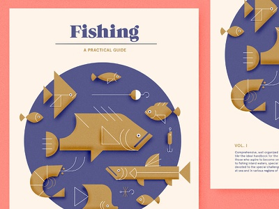 Fishing - A Practical Guide fishing illustration geometric typography guide fish hook shrimp