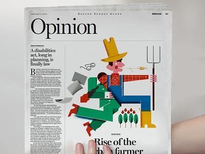 The Boston Globe! illustration boston-globe bucket-list boston news editorial farmer news-paper csa