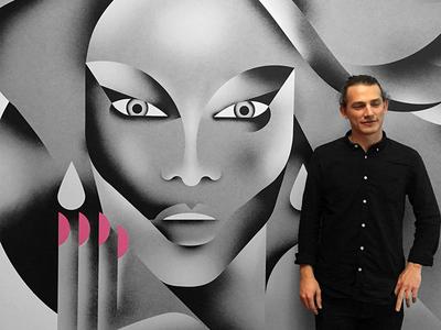 LinkedIn Murals [Full project!] portraits tyra-banks mural linkedin illustration glamour fashion reality-tv