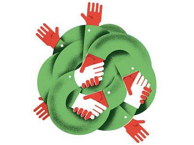 Monocle 80! [Full Project] illustration hand-shake trade diplomacy monocle spot-illustration editorial agreement politics