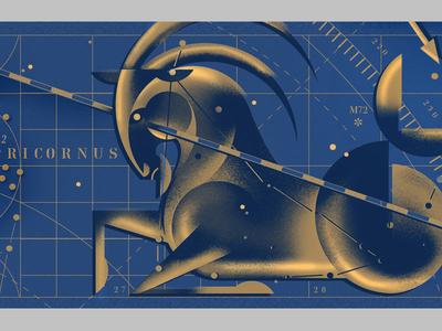 Fonts.com Hero Image capricorn illustration stars constellations texture star-chart goat zodiac
