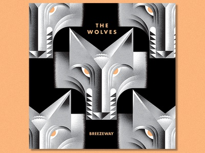 The Wolves album typography illustration animal wolves wolf rock-and-roll music