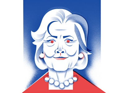 The Hillary Clinton democrat voting candidate politics president hillary-clinton hillary illustration portrait