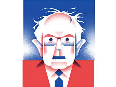 Democratic Candidate - Bernie Sanders democrat voting candidate politics president berny-sanders illustration portrait