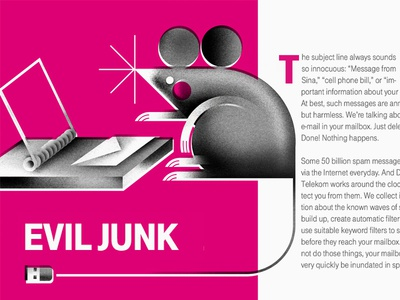 Squeak-Squeak! article squeak editorial animal illustration mouse-trap spam junk-mail email mouse