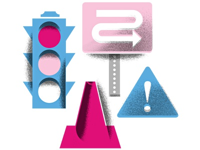 Traffic! cars driving traffic traffic-signal traffic-cone detour stop-light