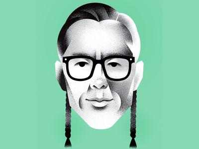 Cary Fukunaga —GQ Magazine editorial gq magazine film director cary-fukinaga illustration portrait