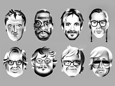 Director Lineup — GQ Magazine directors celebrities face illustration gq-magazine film portrait gq