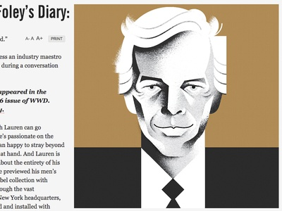 Ralph Lauren  magazine editorial-illustration wwd polo ralph-lauren illustration portrait