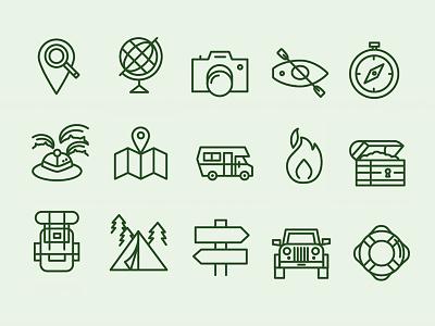 Adventurer's Set illustration travel-icons icon-set icons icon nomad travel
