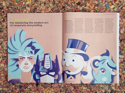 Fast Company [Full Project] transformers my-little-ponies monopoly gem magazine full-project illustration editorial-illustration fastcompany hasbro