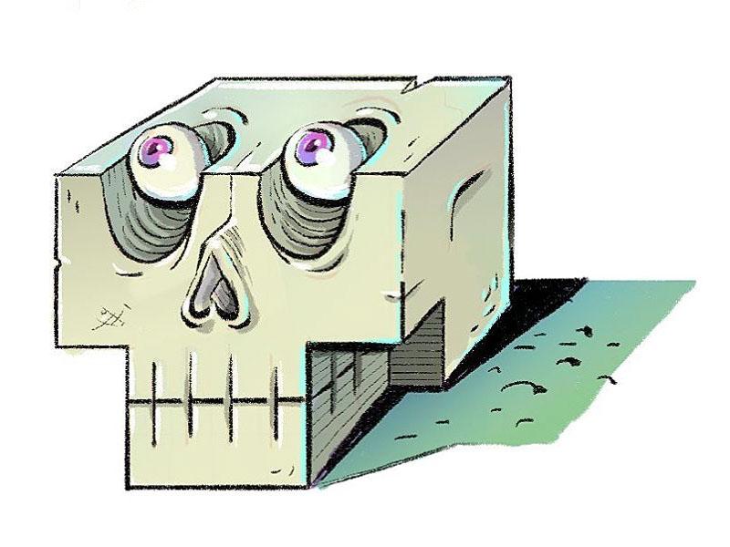 Skull³  cartooning cartoony cartoon illustration wacom drawing ³ skull³ skull mystic-grandpa