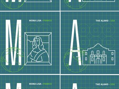 Game Tiles (M&A) game-design game mona-lisa alamo icon-design icons icon