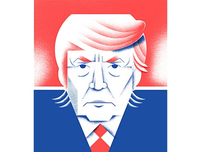 The Trump geometric portrait donald donald-trump trump voting candidate presidential-candidate president illustration