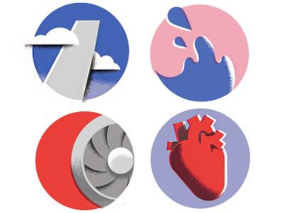 zoom-sploosh-rumble-pump liquid airplane heart johns-hopkins geometric editorial article science-illustration science editorial-illustration illustration