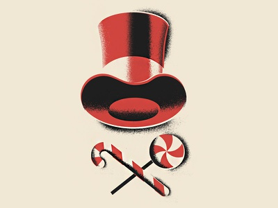 Pure Imagination gene-wilder hat candy top-hat permanent-records illustration willy-wonka wonka
