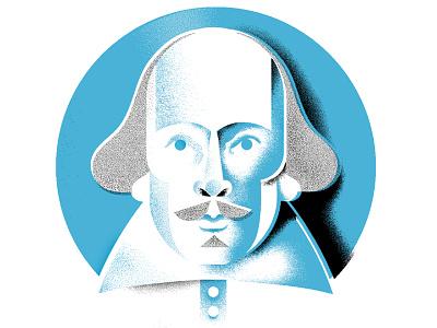 The 'Speare face shakespeare editorial-illustration portrait illustration
