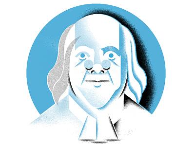 Frank to the Lin ben-franklin face editorial-illustration illustration portrait