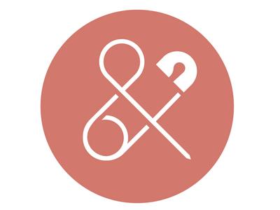 Cooper & Belle babies baby safety-pin pintersand ampersand logo branding