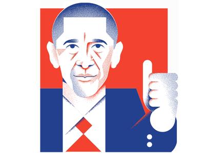 Bye Bye Barack politics president grain face illustration portrait obama