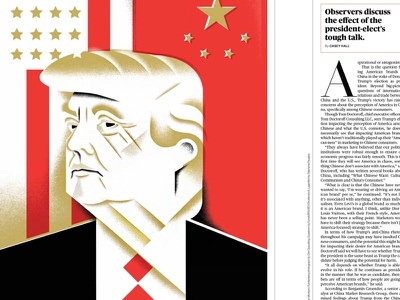 United States of Trump politics president inaguration portrait donald-trump trump illustration