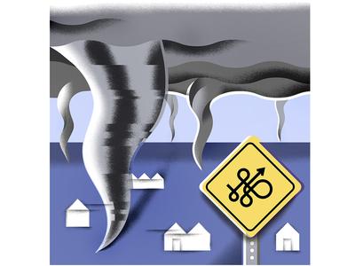 'Nados! editorial-illustration grain weather science tornado illustration