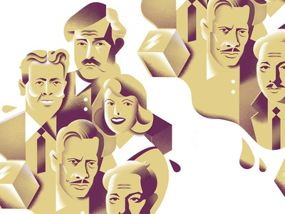 Literary Libations (1) drink alchohol editorial-illustration illustration faces portrait portraits authors