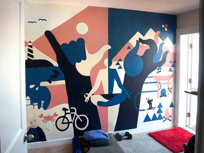 Spirit Mural illustration utah slc paint painting mural