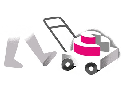 Appliance Share yard-work yard illustration editorial-illustration texture mower lawn-mower