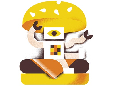 The Visionary (Full Project) hamburger robot editorial-illustration eye-balls eye-ball eye binary computer-vision