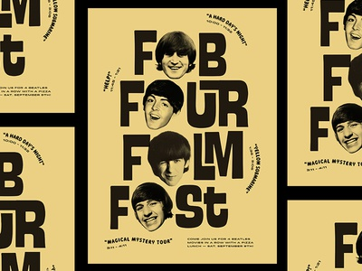 Fab Four Film Fest typography graphic-design poster movies film-fest music the-beatles beatles