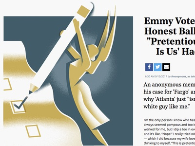 Hollywood Reporter editorial-illustration award tv vote ballot voting emmy emmys hollywood-reporter