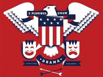 Drama Club T drama-masks drama merica america patriotic heraldry eagle e-pluribus-unum