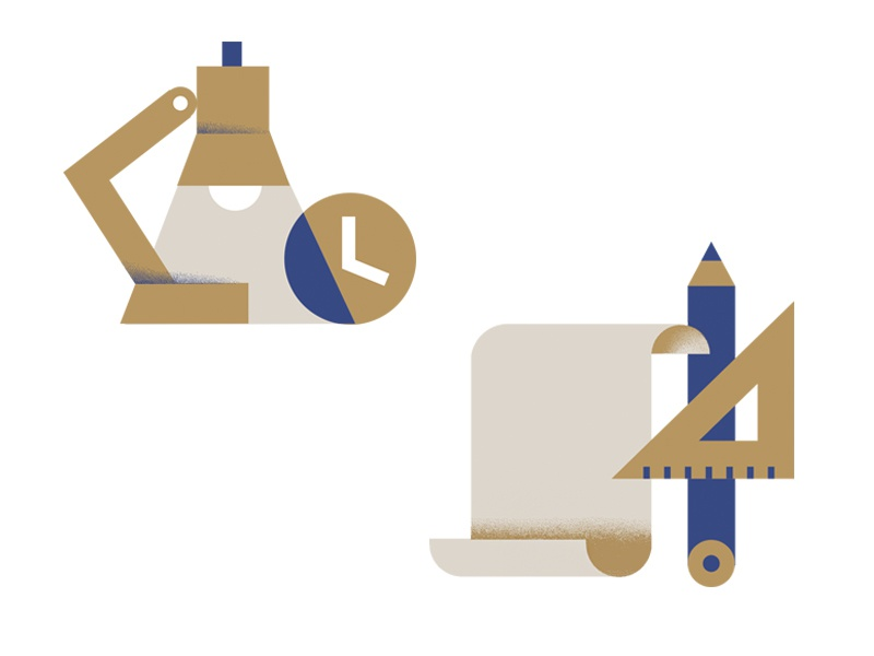 Interior Design icon-set blue-prints pencil lamp art architecture interior-design icon icons