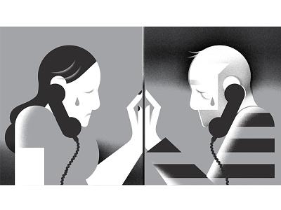 Playboy illustration phone conjugal-visit love jail prison editorial-illustration