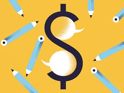 HOW magazine (2) word-bubble pencil fee money illustration editorial-illustration how-magazine