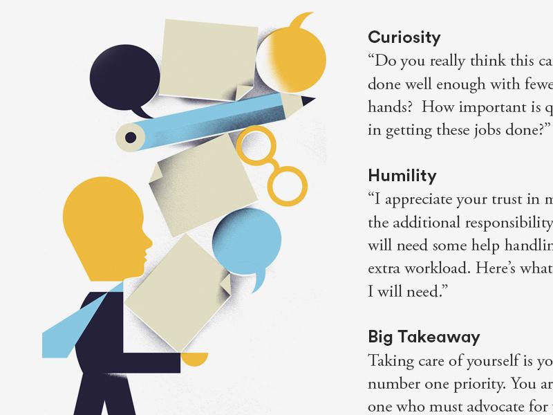 HOW magazine (3) paper word-bubble pencil glasses illustration editorial-illustration how-magazine