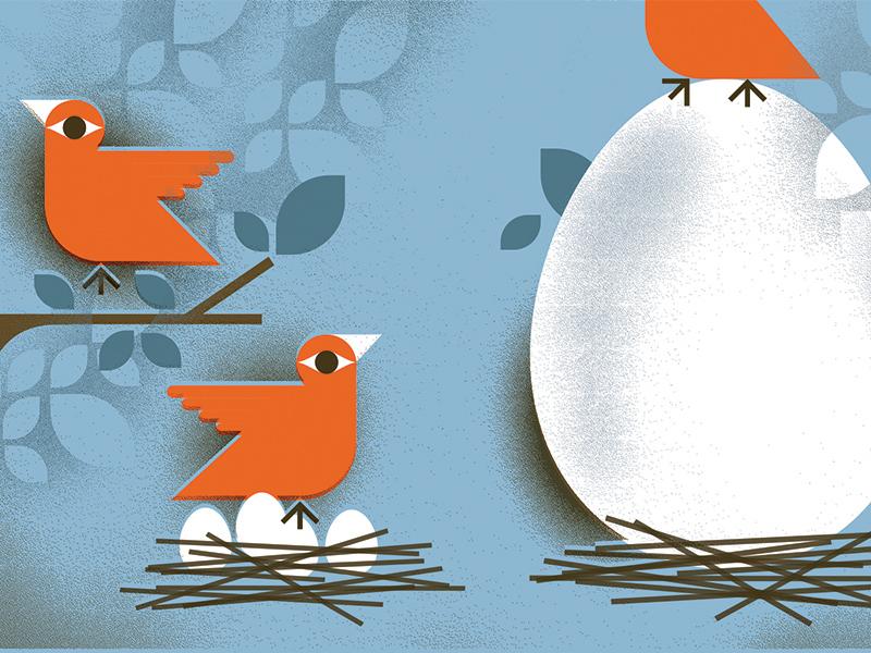 Wall Street Journal (2) nest money financial investment eggs birds illustration wall-street-journal
