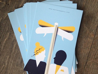 New Postcards illustration editorial-illustration promo postcards