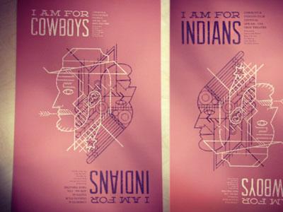 Cowboys & Indians Film Fest Poster (Reversible) cowboy indian native american film festival reversible cowboys and indians