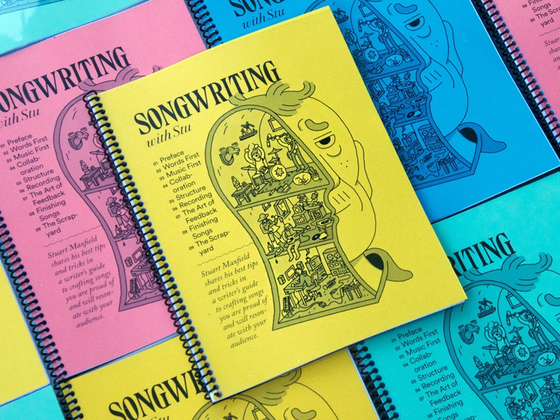 Songwriting with Stu book book design typography graphic  design illustration songwriting