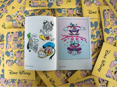 Dalt Wizney Zine (in print!) cartooning cartoons goods print collaboration collab fan art goofy donald mickey zine illustration drawing disney